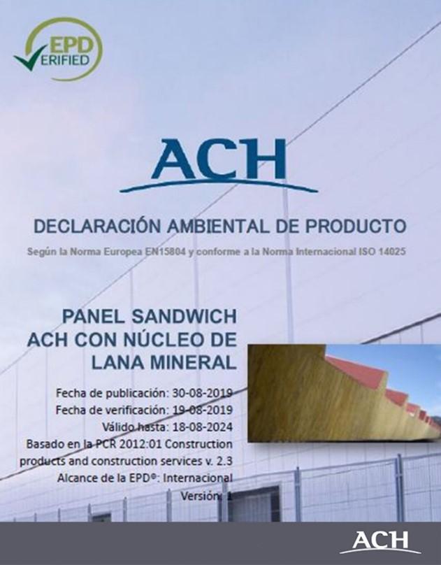 Declaración ambiental panel sandwich