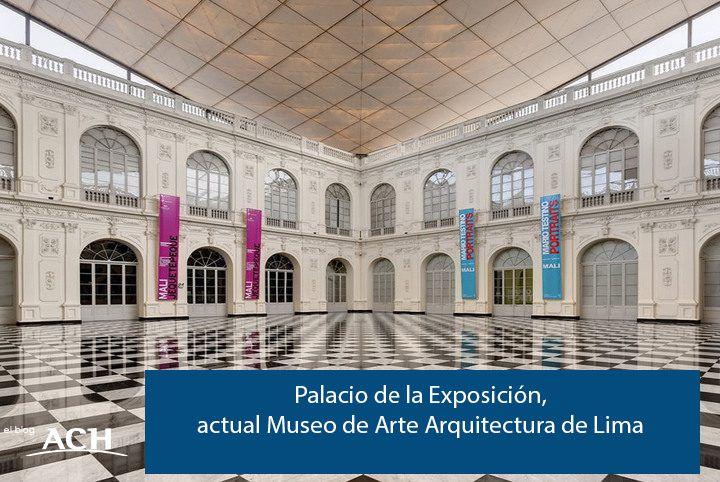 arquitectura del palacio de la exposición